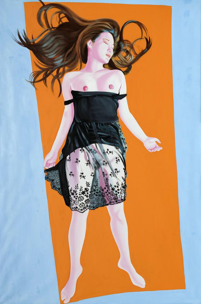 hyemin 2018 huile sur toile /oil on canvas 195x130 cm