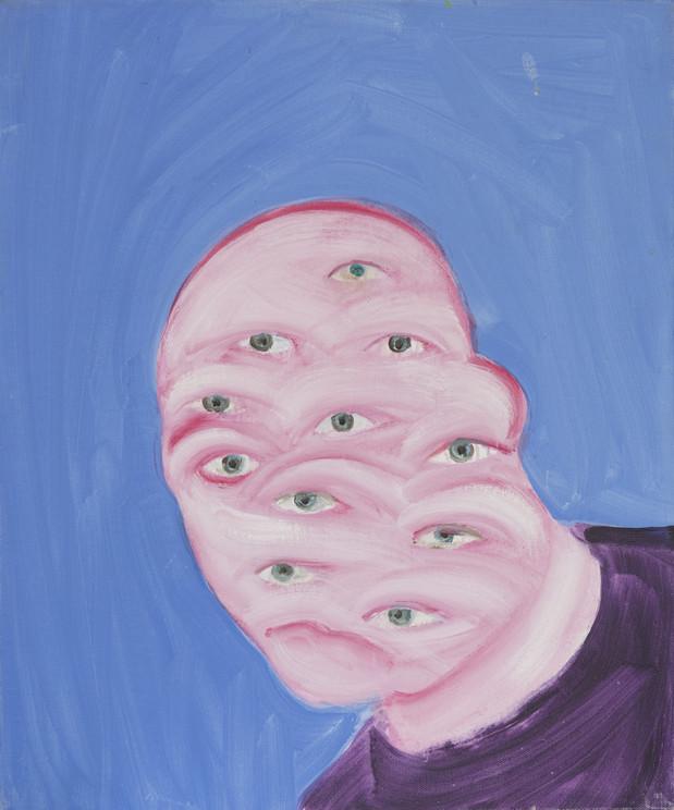 Autoportrait de mon ombre 2005 huile sur toile /oil on canvas 55x46cm