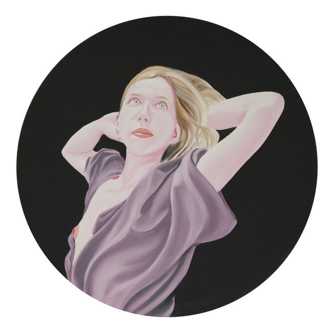 Sara 2012 huile sur toile /oil on canvas 80cm de diamètre