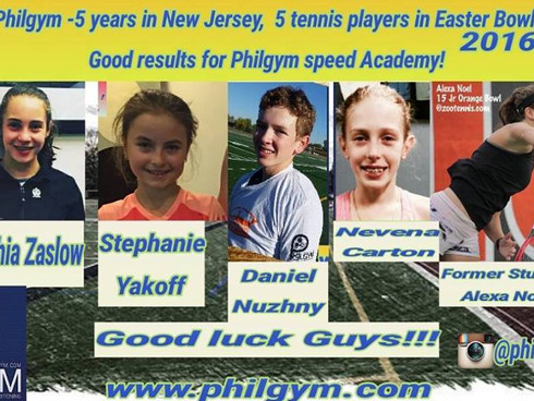 Philgym Academy celebrates in March 2016, five years' work in New Jersey!