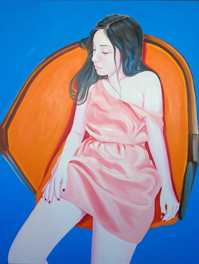 Saghi 2018 huile sur toile /oil on canvas 146 x114 cm