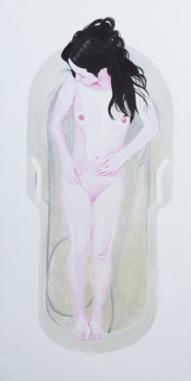 Bath 2012-2015 huile sur toile /oil on canvas 195x97cm