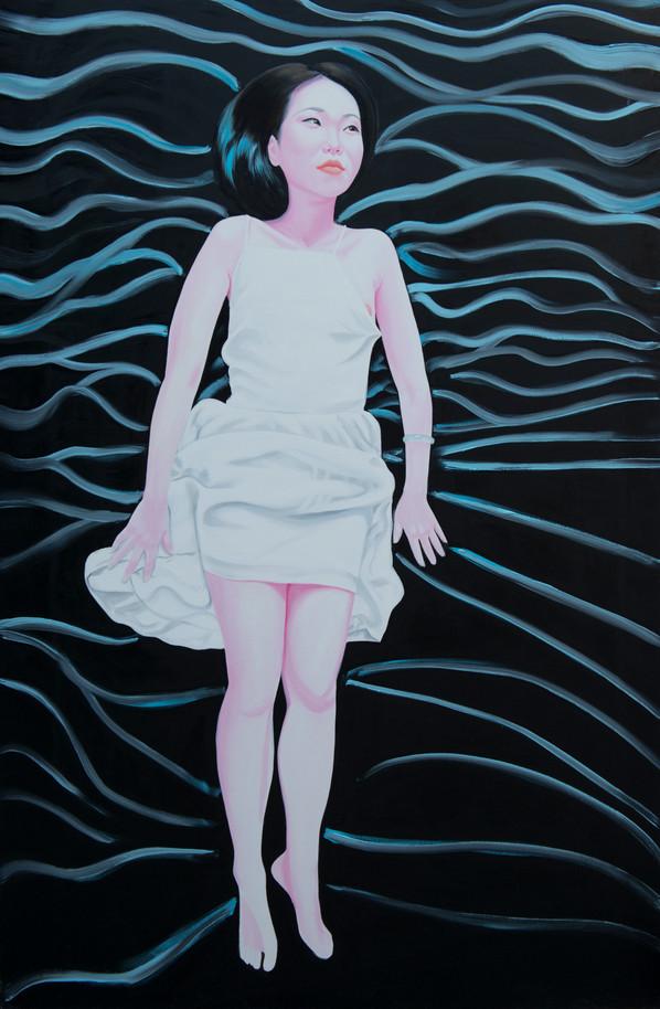 White dress 2015, Huile sur toile /oil on canvas 195x130 cm