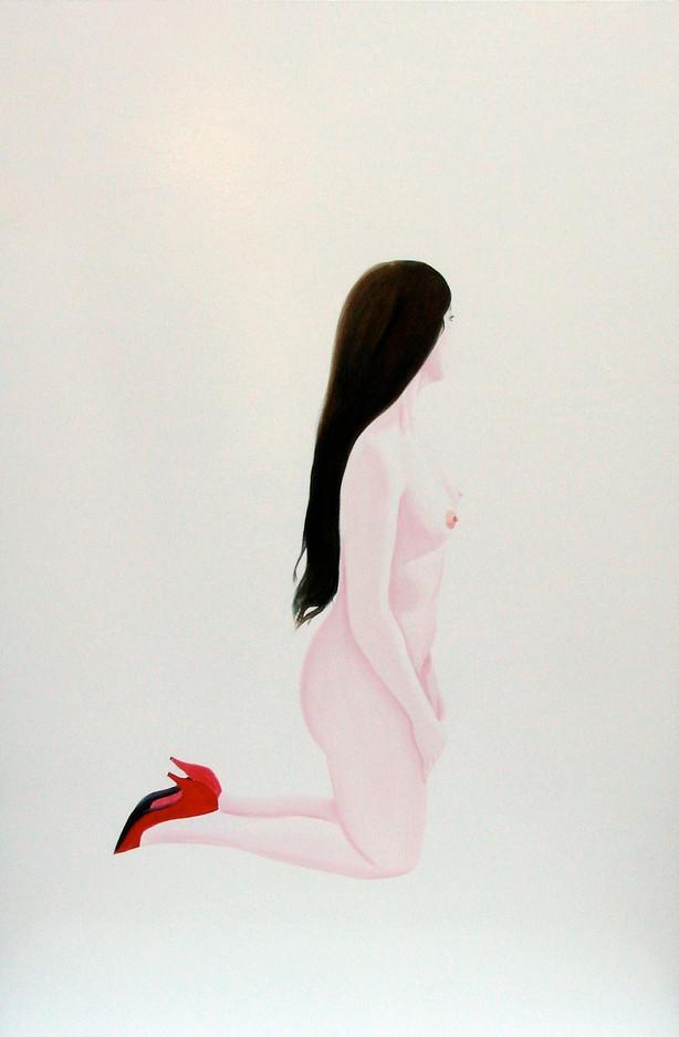 Jeanne 2010 huile et glycero sur toile /oil and glycero on canvas 195x130 cm