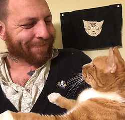 Jon cat sitting in Philly