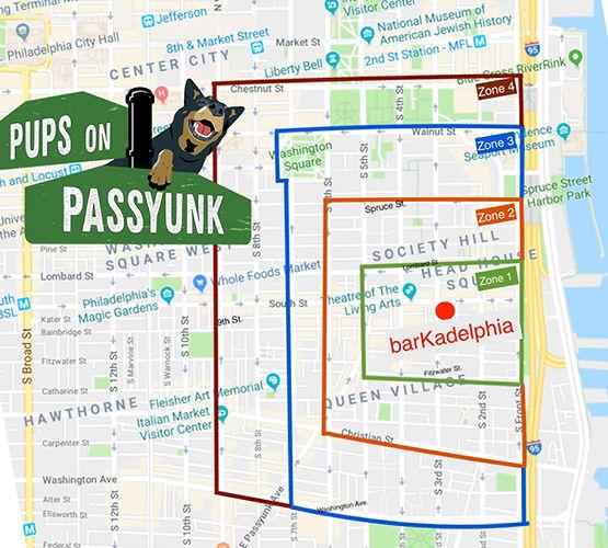Map for walks to barkadelphia
