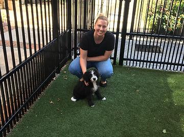 Liz with her pup