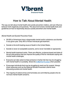 Vibrant - How To Talk About Mental Healt