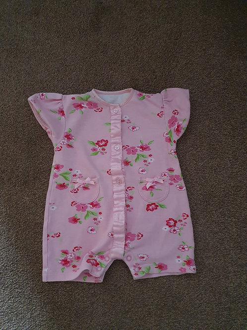 0 to 3 mths flowery romper