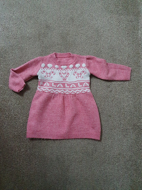 12 to 18 mths pink knitted dress