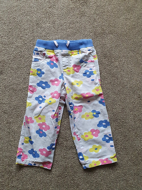 2 to 3 years boden flowery trousers