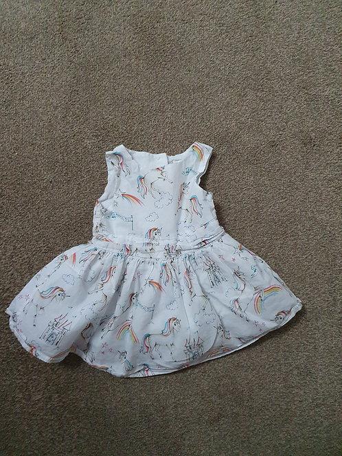 3 to 6 mths next unicorn dress