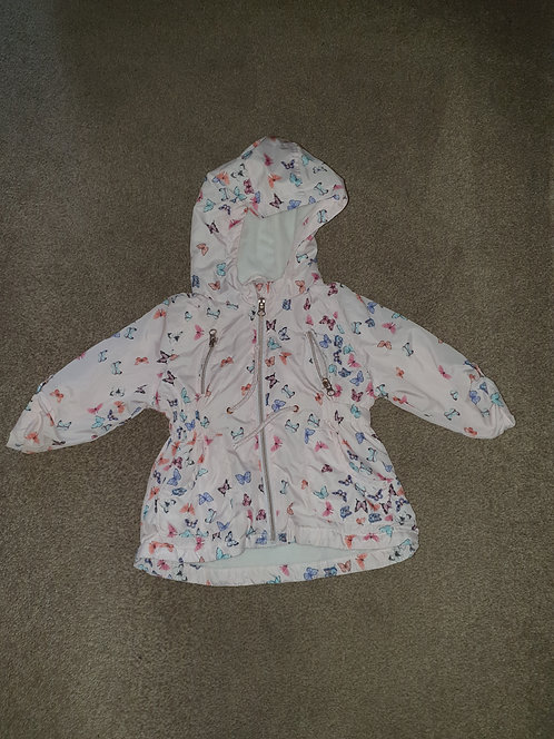 12 to 18 mths thin butterfly coat