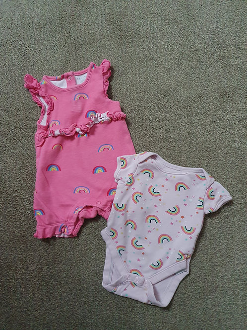 0 to 3 mths rainbow baby clothes