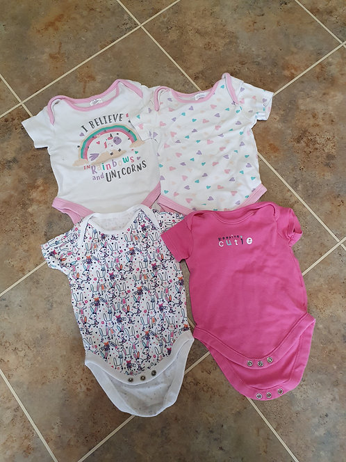 3 to 6 mths vest tops x 4
