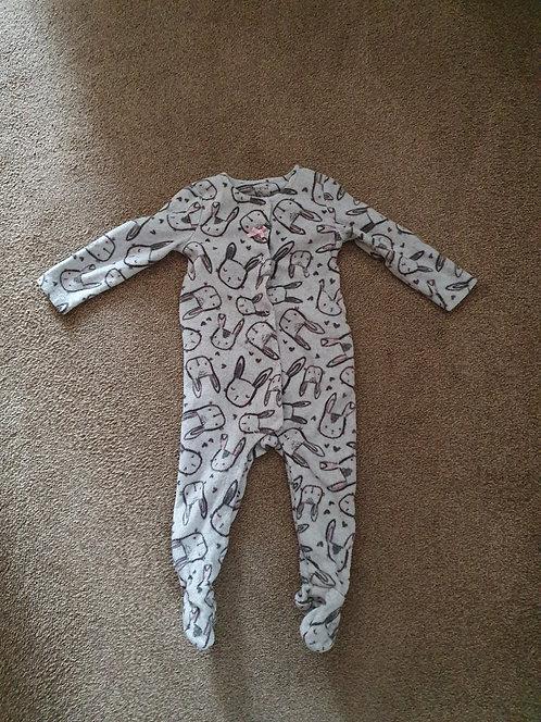 6 to 9 mths bunny sleepsuit