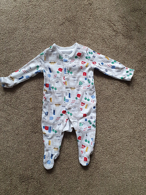 0 to 3 mths transport sleepsuit