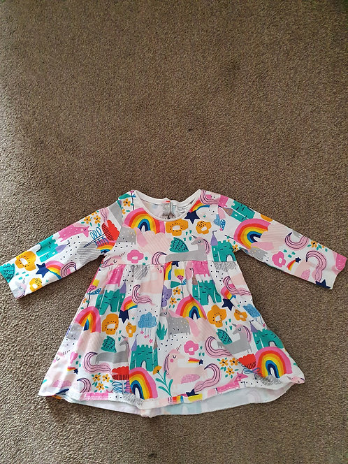 6 to 9 mths rainbow next dress