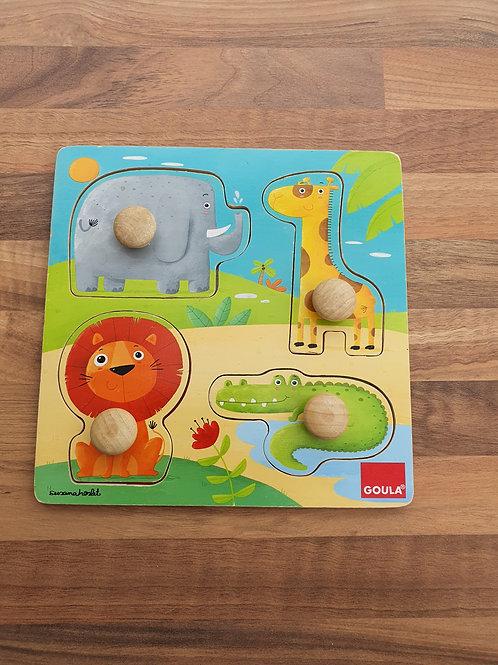 Goula wood puzzle