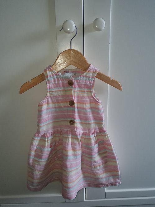 12 to 18 mths stripey summer  dress