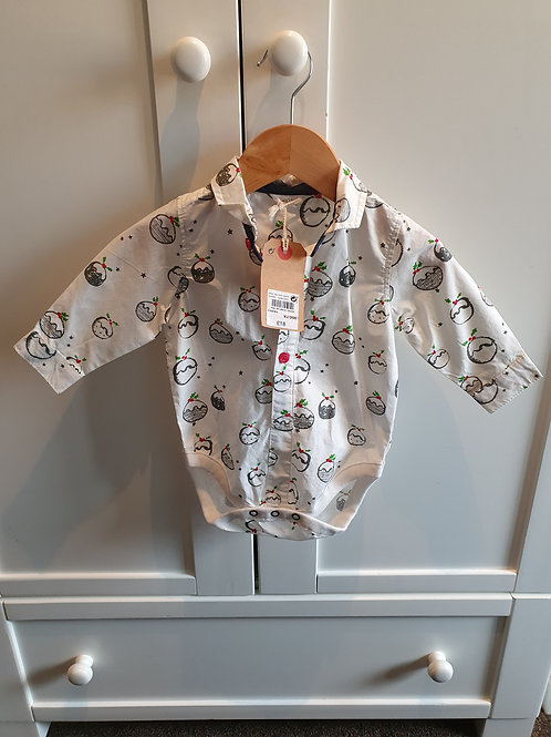 3-6m BNWT next Christmas shirt