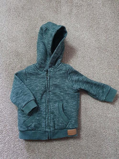 3 to 6 mths green  f & f jacket