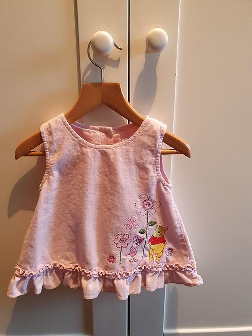 0 to 3 mths winnie the pooh pink dress