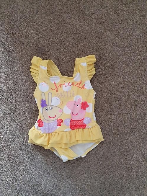 9 to 12 mths peppa swimwear