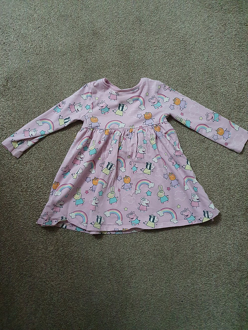 12 to 18 mths peppa pig dress see description