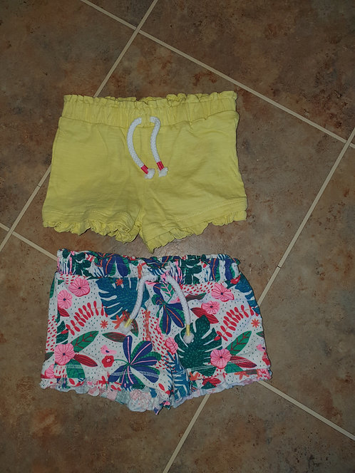 6 to 9 mths shorts x 2