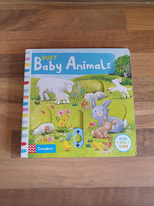 Busy baby animal book
