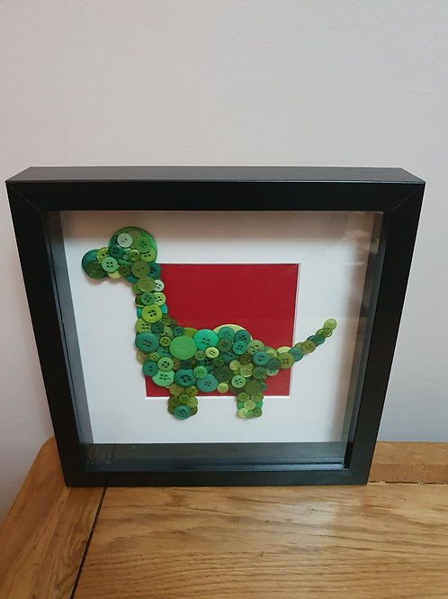 Dinosaur button picture