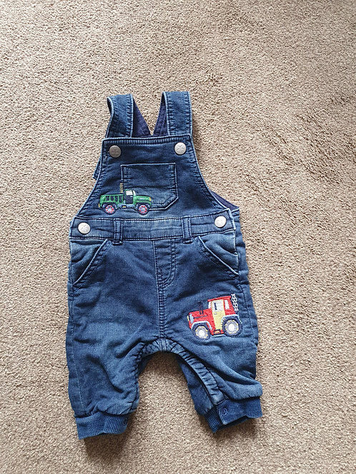 0 to 3 mths transport dungarees