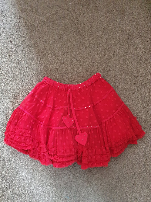 Age 6 red skirt
