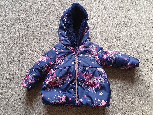 9 to 12 mths George flowery navy coat