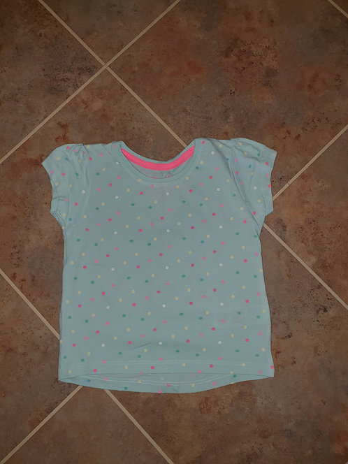 12 to 18 mths green spotty t shirt