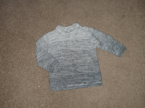 3 to 6 mths black / grey jumper