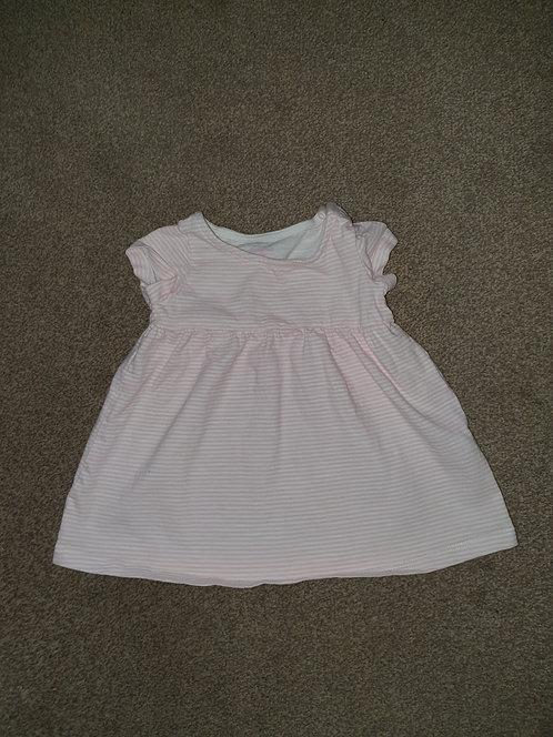 3 to 6 mths pink stripey dress  f &  f