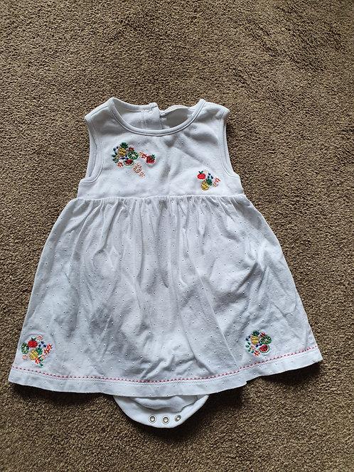 6 to 9 mths next white dress