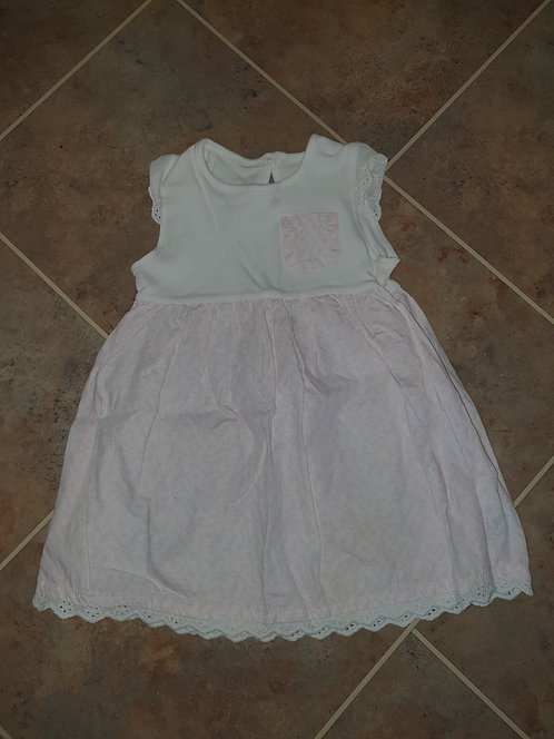 12 to 18 mths white pink dress