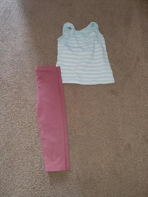 12 to 18 mths set leggings & top