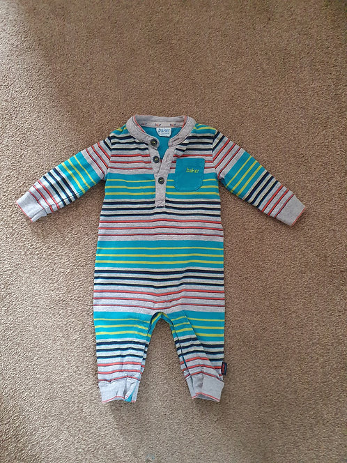 3 to 6 mths  Ted baker sleepsuit