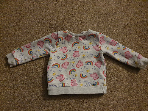 6 to 9 mths peppa pig jumper