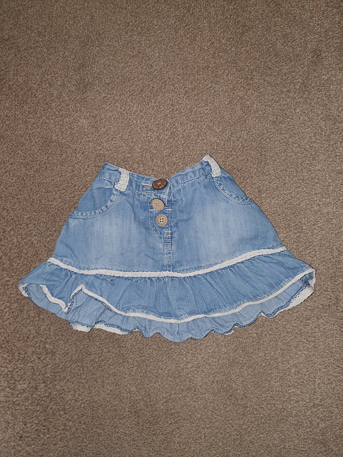 12 to 18 mths next denim skirt