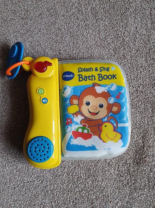 V tech splash &  sing bath book
