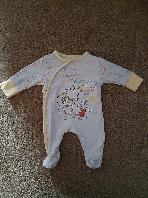 0 to 3 mths winnie the pooh s/suit