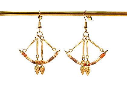 perles en terre cuite, perles antiques, antiquité, argile, terracotta, perles du Mali, perles du niger, bijou plaqué or