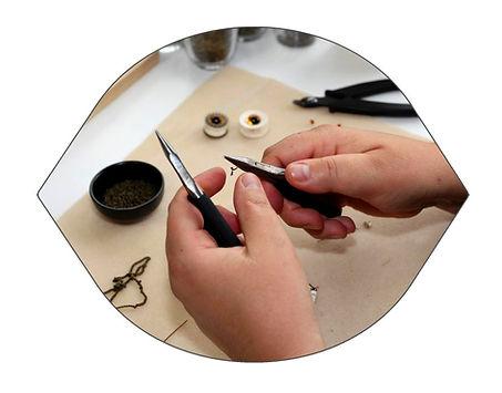 bijoux artisanaux originaux made in France, fabriqués en mode slow fashion , à Paris, région parisienne, Bièvres 91