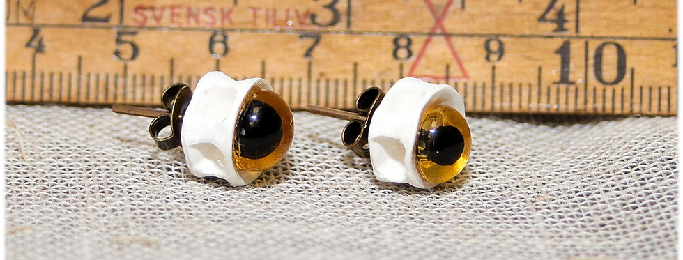 Boucles d'oreilles 'puces' Oeil