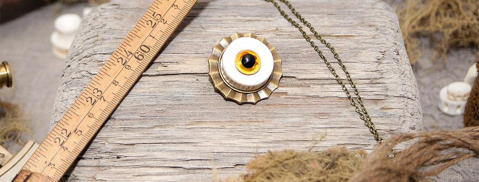 Broche-pendentif Oeil, avec sa chaîne